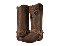 Roper Eagle Bandit Toe Boot Brown Distressed Leather Cowboy Boots