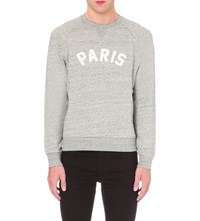 Sandro Paris Cotton Jersey Sweatshirt Grey