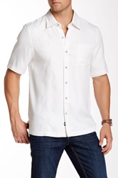 Nat Nast Regular Fit Short Sleeve Bell Silk Shirt White