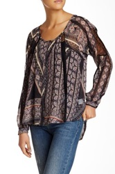 Astr Pintuck And Lace Blouse Juniors Black