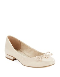 Anne Klein Petrica Leather Bow Tie Flats Tan