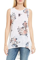 Vince Camuto Women's Two By Bouquet Whimsy High Low Burnout Tank