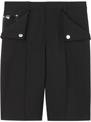 Burberry Pocket Detail Wool Mohair Tailored Shorts Black