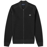 Fred Perry Waffle Zip Cardigan Black