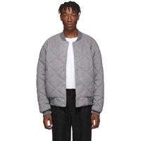 Paa Grey Gymnasium Bomber Jacket
