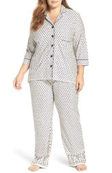 Pj Salvage Plus Size Women's Pajamas And Sleep Mask Sand