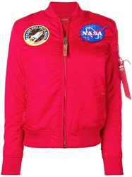 Alpha Industries Nasa Bomber Jacket Red