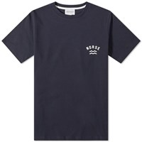 Norse Projects Niels Ivy Wave Logo Tee Blue