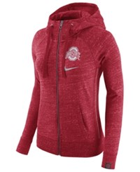 Nike Women's Ohio State Buckeyes Vintage Full Zip Hoodie Red Heather