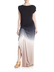 Young Fabulous And Broke Bryton Ombre Jersey Maxi Dress Black Ombre