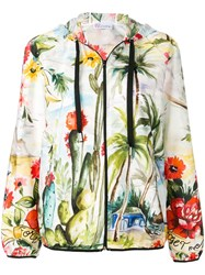 Red Valentino Tropical Print Jacket White