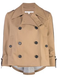 Veronica Beard Double Breasted Trench Jacket Neutrals