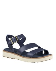 Timberland Baileypark Leather Y Strap Sandals Black