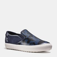 Coach C115 Wildbeast Slip On Sneaker Denim Wild Beast