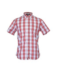 Sun 68 Short Sleeve Shirts Brick Red