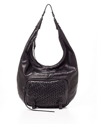 She Lo Take A Chance Leather Hobo Bag Black
