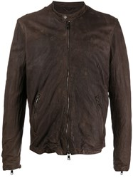 Giorgio Brato Crinkle Textured Leather Jacket 60