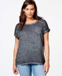 Styleandco. Style And Co. Plus Size Pocket T Shirt Deep Black