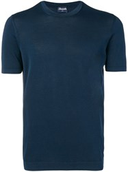 Drumohr Knitted T Shirt Blue