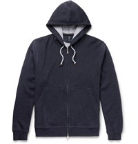 Brunello Cucinelli Cotton Blend Hoodie Navy