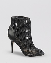 Sam Edelman Peep Toe Booties Aubriana High Heel Black