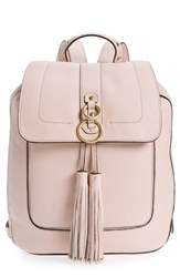 Cole Haan Cassidy Rfid Pebbled Leather Backpack Pink Peach Blush