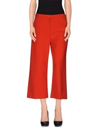 Pinko Trousers 3 4 Length Trousers Women Red