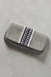 Anthropologie Diamond Print Clutch Black