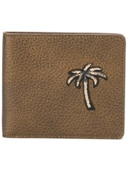Tomas Maier Palm Tree Billfold Wallet Brown