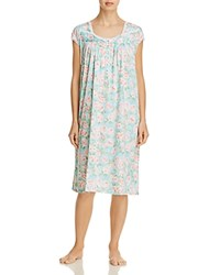 Eileen West Short Sleeve Waltz Gown Multi Floral
