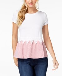 Maison Jules Layered Look Top Firespin
