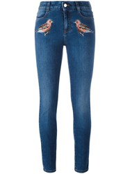 Stella Mccartney Robin Embroidered Skinny Jeans Blue