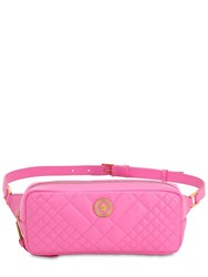 Versace Icon Quilted Leather Belt Bag Pink