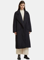 Nomia Oversized Quilted Coat Black