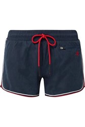 Perfect Moment Rainbow Brushed Shell Shorts Navy