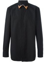 Givenchy Contrast Collar Tip Shirt Black