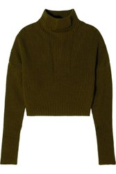 Petar Petrov Ribbed Cashmere Sweater Green