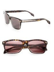 Alexander Mcqueen 57Mm Rectangular Sunglasses Havana