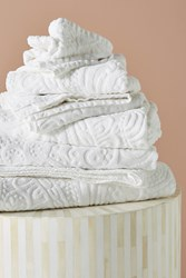 Kassatex Francesca Sculpted Paisley Towel Collection White