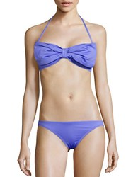 Kate Spade Georgica Bow Accented Bandeau Bikini Top Blue