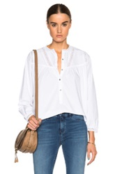 Mih Jeans Yoke Top In White