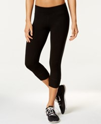 Ideology Outdoor Living Cropped Leggings Only At Macy's Classic Black