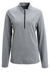 Asics Long Sleeved Top Dark Grey Heather