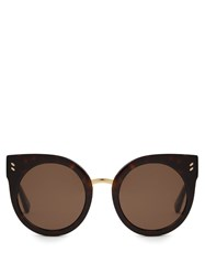Stella Mccartney Cat Eye Acetate Sunglasses Tortoiseshell