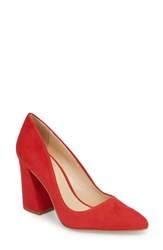 Vince Camuto Talise Pointy Toe Pump Tomato Tango Suede