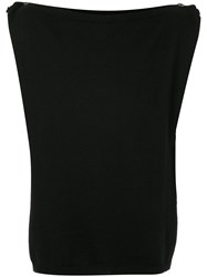 Yohji Yamamoto Vintage Multi Button Knitted Top Black