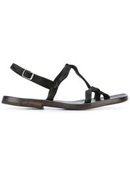 Dimissianos And Miller Sling Back Flat Sandals Men Calf Leather Leather 42 Brown