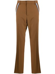 Valentino Pleated Tailored Trousers Brown