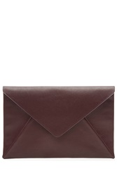 Maison Martin Margiela Maison Margiela Leather Envelope Clutch Brown