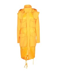 Versus By Versace Overcoats Orange